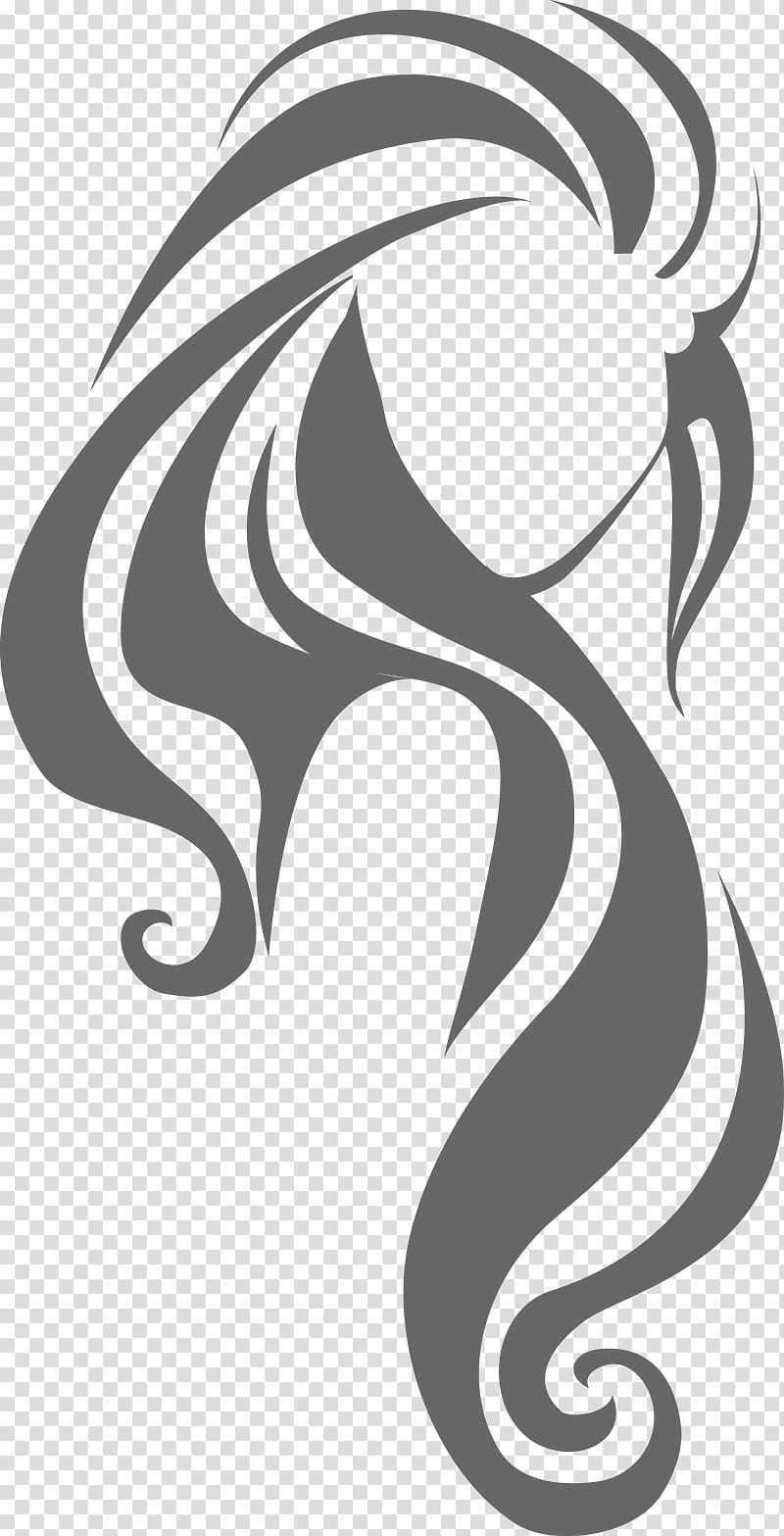 Woman illustration, Hairstyle Long hair Hairdresser, hair salon.