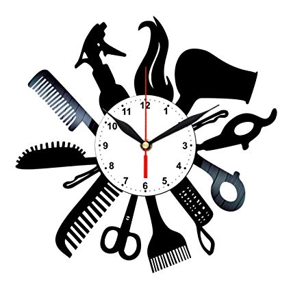 Amazon.com: Hairdresser Vinyl Clock.