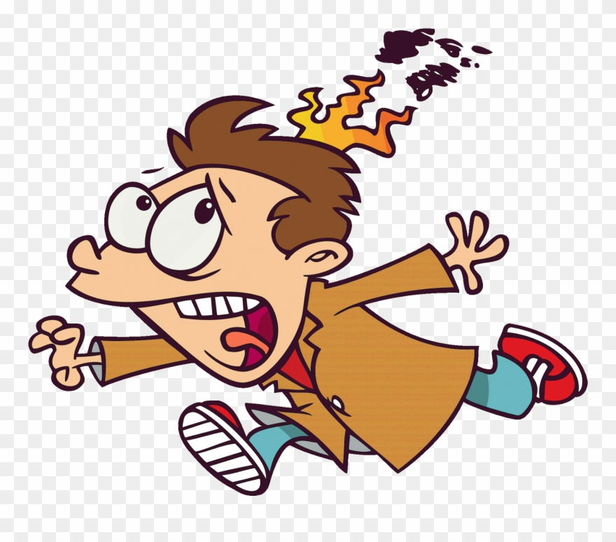 Image Result For Running With Hair On Fire Cartoon.