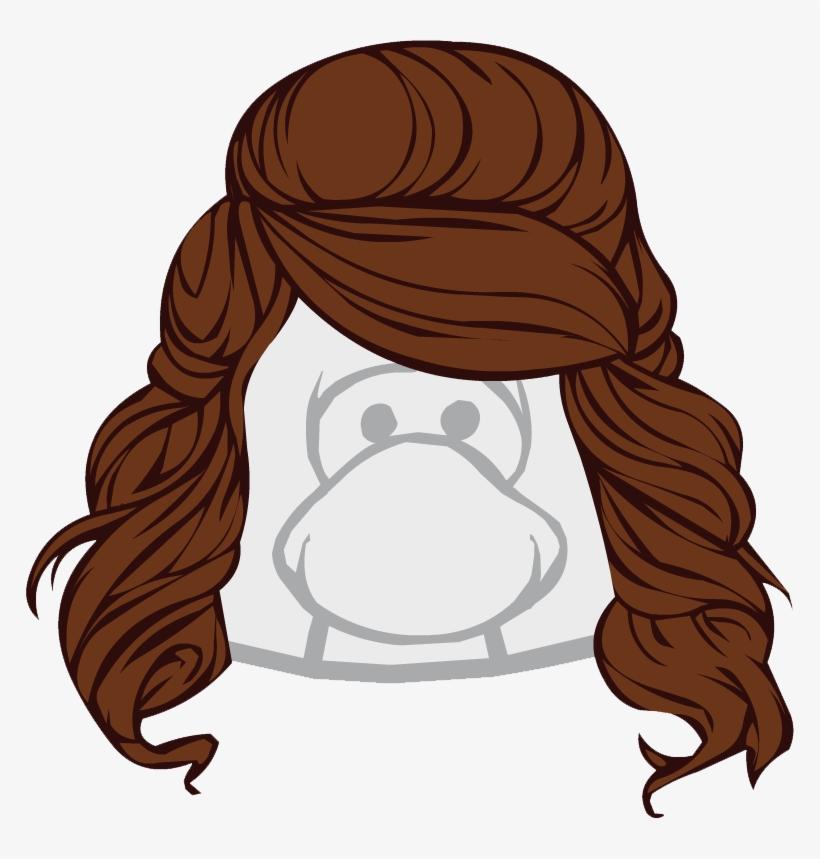 Wig Clipart Brunette Hair.