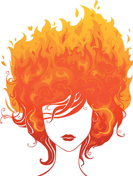 Best Hair Fire Illustrations, Royalty.