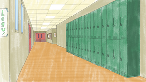 School Hallways Clipart.