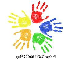 Hand Prints Clip Art.