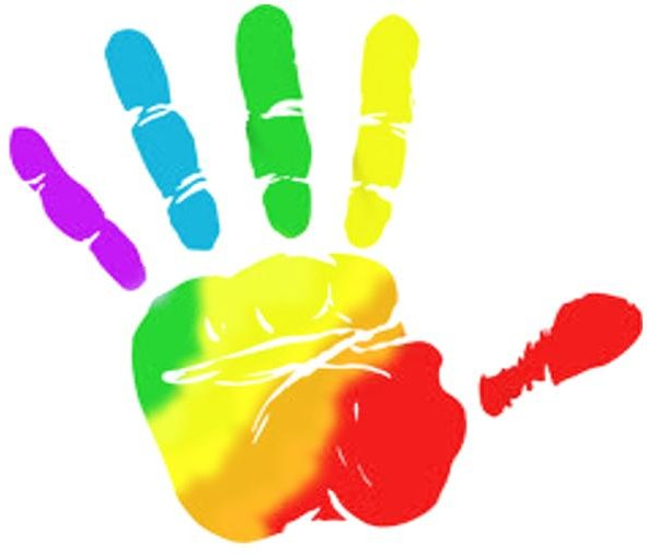 Handprint Clipart Colored Many Interesting Decent Free Rustic 13.
