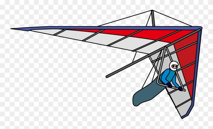 Gliding Wing Clip Art Transprent Hangglider.