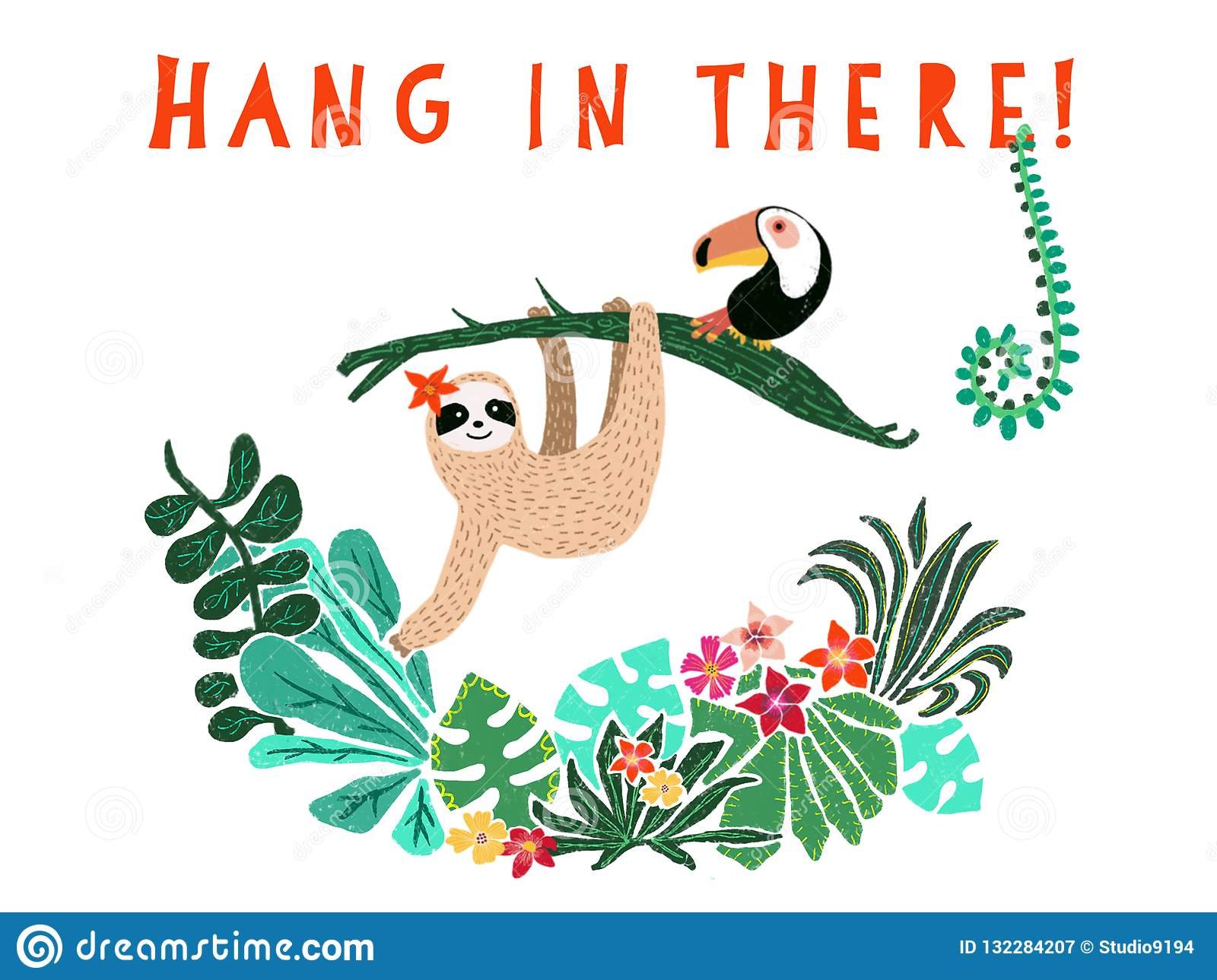 Hang There Baby Stock Illustrations.