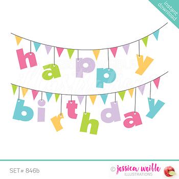 Happy Birthday Banner Clip Art.