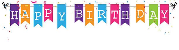 Best Happy Birthday Banner Illustrations, Royalty.