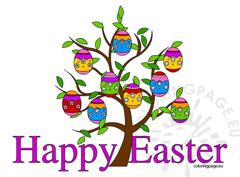 Happy Easter clip art free.