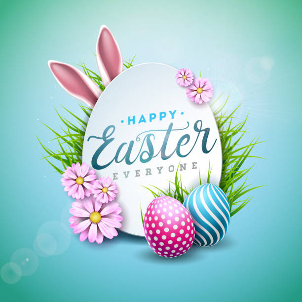 Best Happy Easter Illustrations, Royalty.