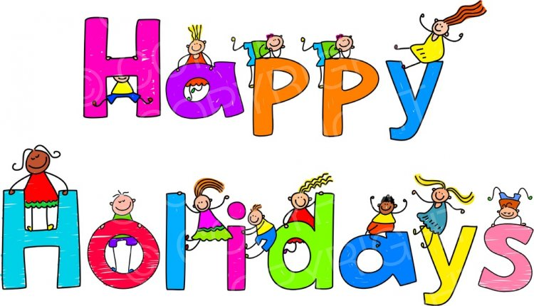 Toddler Art Happy Holiday Kids Prawny Clipart.