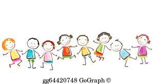Happy Children Clip Art.