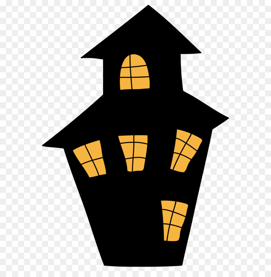 Halloween Haunted House png download.
