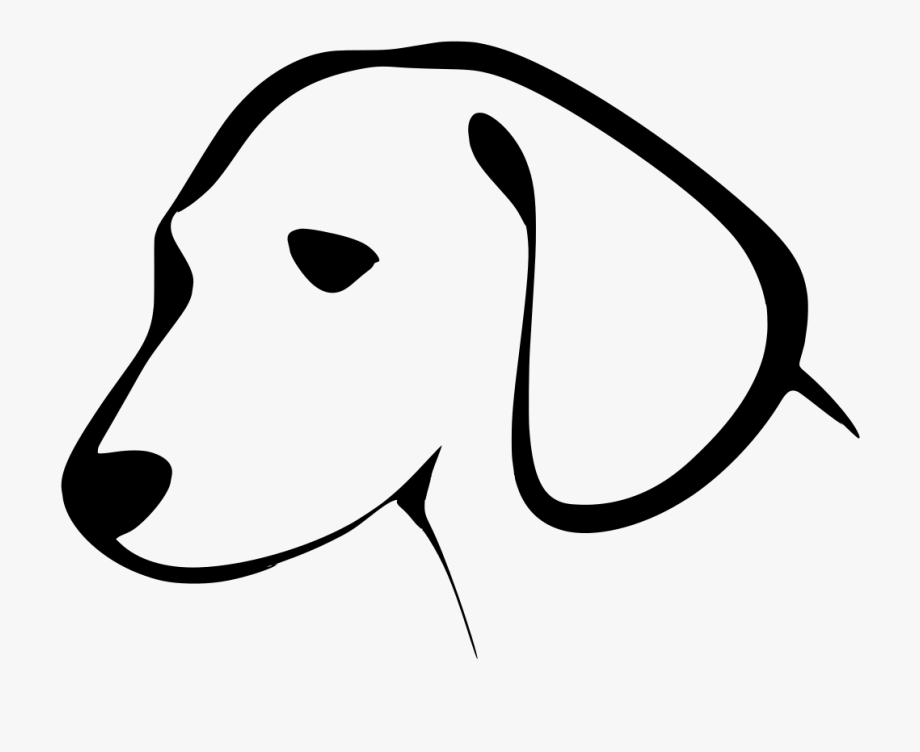 Black And White Dog Clipart , Png Download.