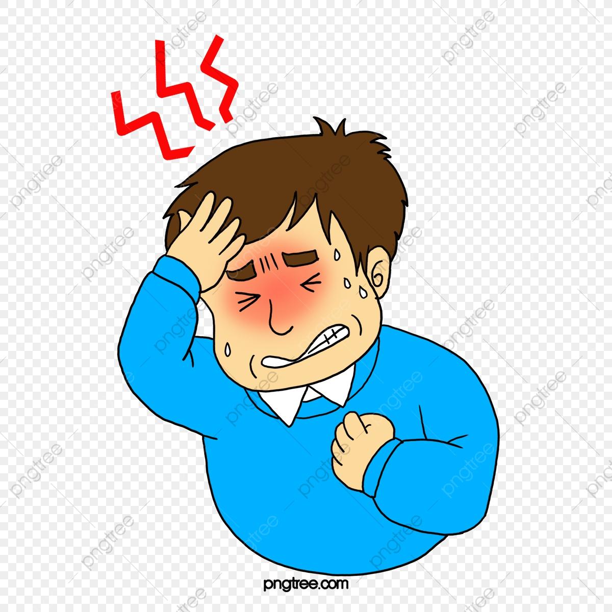 A Man With A Headache, Man Clipart, Man, Pain PNG Transparent.