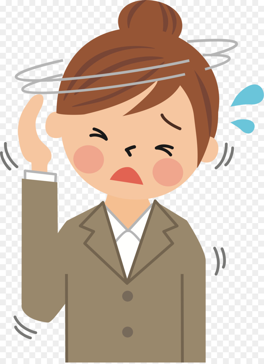 Headache Cartoon clipart.