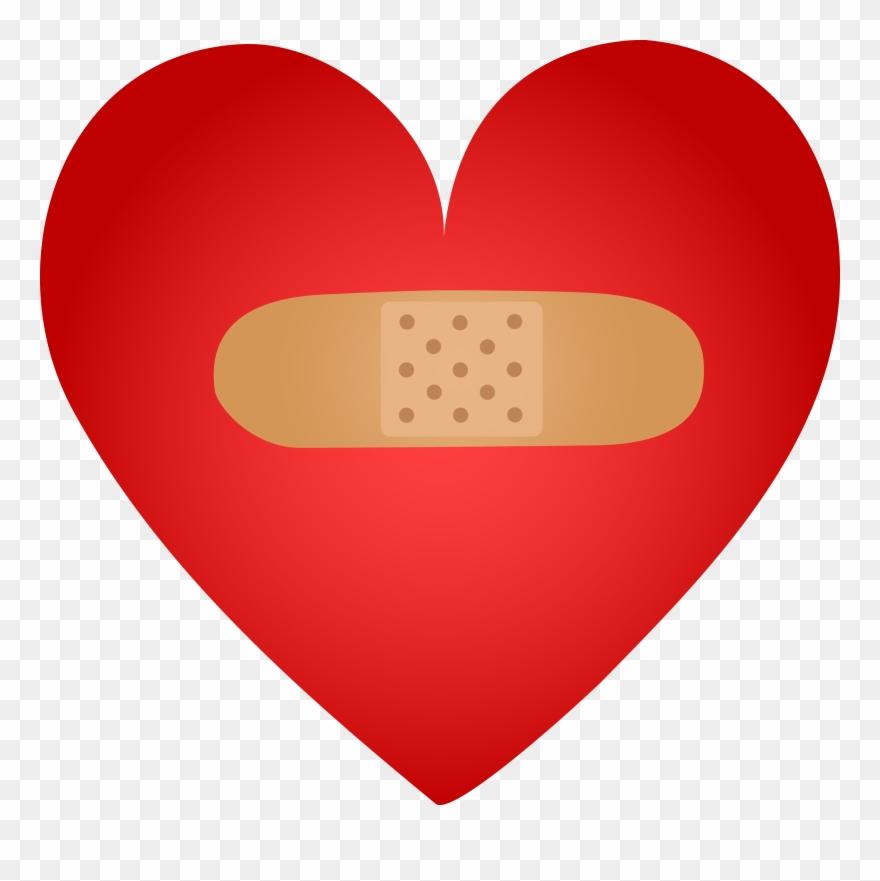 Bandaid Healing Heart With Band Aid Free Clip Art.