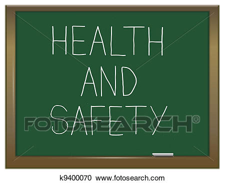 Health and safety. Clipart.