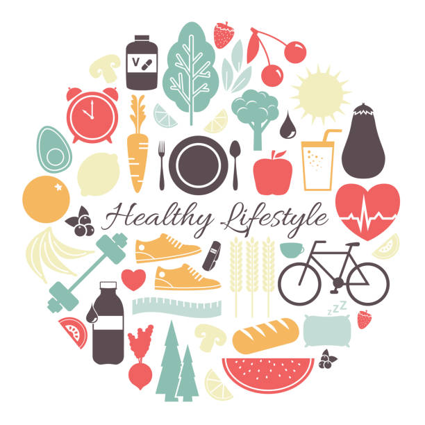 Best Healthy Lifestyle Illustrations, Royalty.
