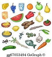 Healthy Food Clip Art.