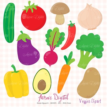 Veggies Clipart Scrapbook Commercial Use. Cute vegetables healthy food  graphics.