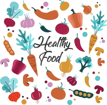 Healthy Food Clip Art Free Vector For Transparent Png.