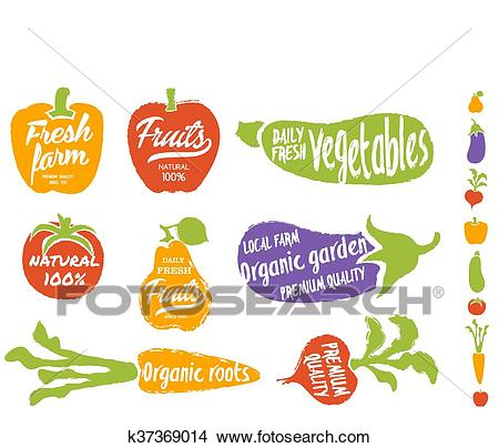 Healthy food vegetable background, vector. Clipart.