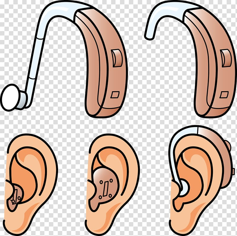 Ears illustration, Hearing aid Hearing loss, ear and hearing aids.