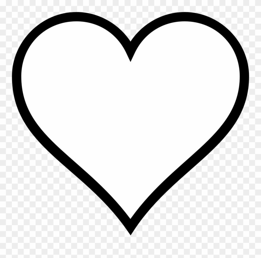 Banner Download Clipart Heart Outline.