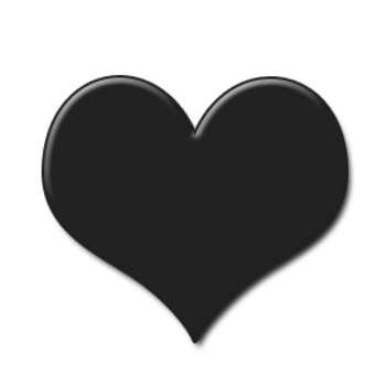 Heart Black Clipart.