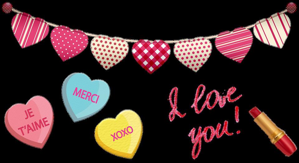 Valentine Clip Art Hearts Candy.