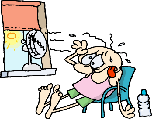 The heat is on outside, keep cool inside. Check out these tips.