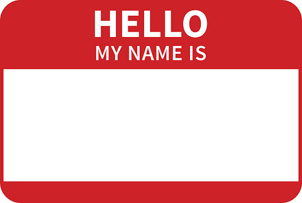 Best Hello My Name Is Illustrations, Royalty.