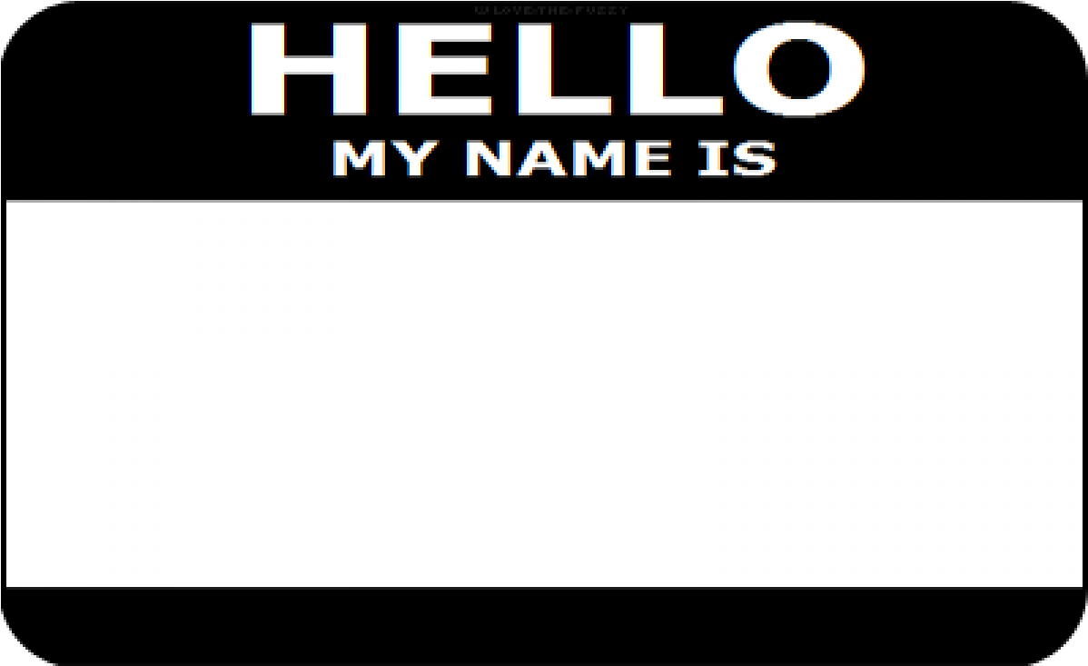 Hello My Name Is Sticker Png , (+) Pictures.