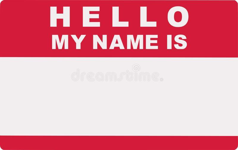Hello My Name Stock Illustrations.