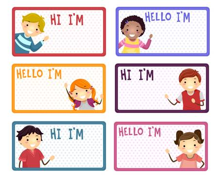 1,232 Hello My Name Is Stock Vector Illustration And Royalty Free.