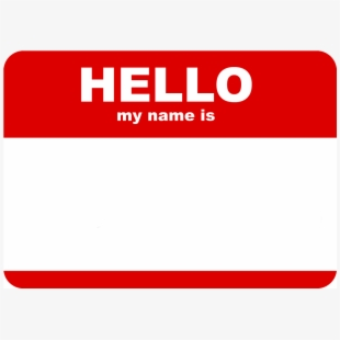 Hello My Name Is Png.