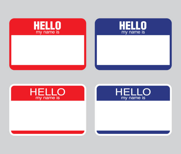 Best Hello My Name Is Sticker Illustrations, Royalty.