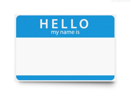 Hello my name is clipart 4 » Clipart Station.