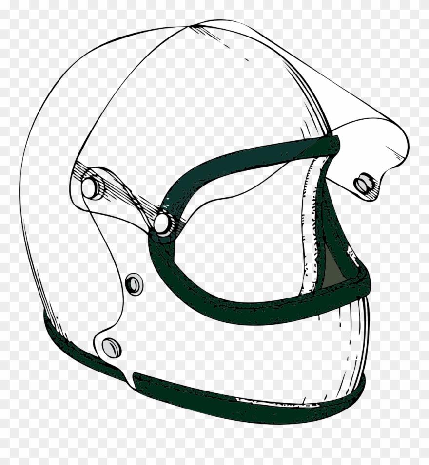 Crash Helmet Black White Line Art 999px 228.
