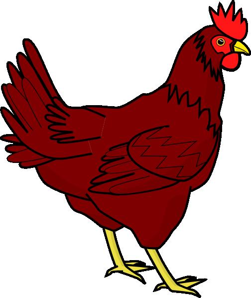 Brown Hen Clip Art at Clker.com.