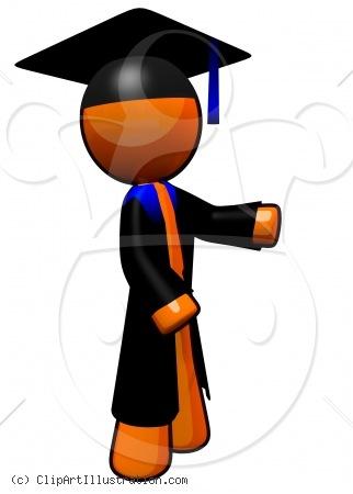 Happy High School Student Clipart.