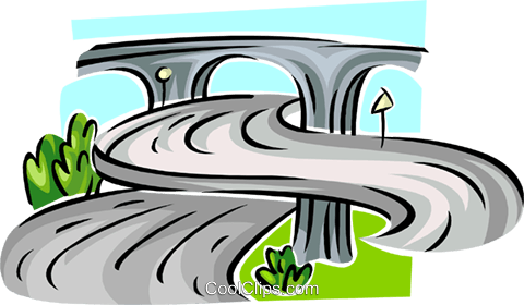 Highways and roads Royalty Free Vector Clip Art illustration.