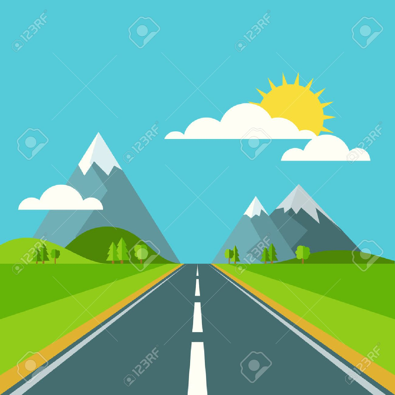 83,438 Highway Stock Vector Illustration And Royalty Free Highway.