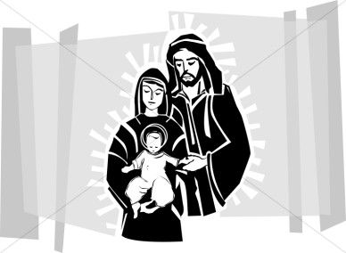 Jesus, Mary and Joseph.