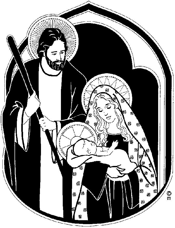 clipart black mary joseph and jesus photo #1.
