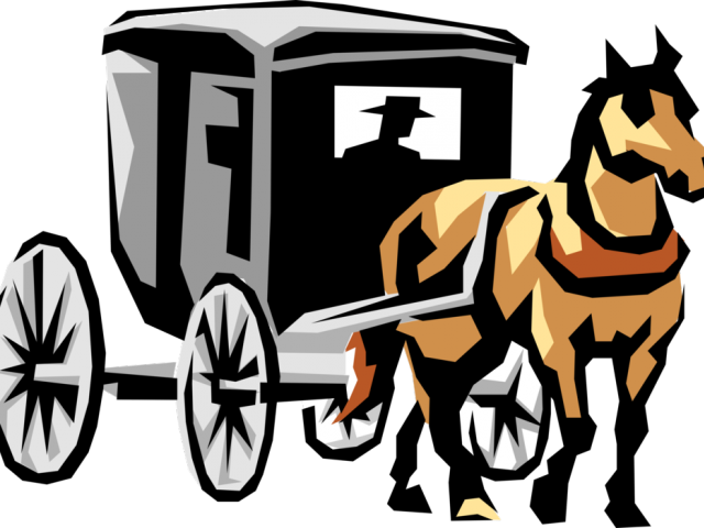 Horse Carriage Drawing.