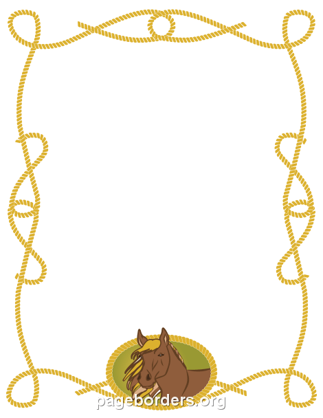 Horse Border: Clip Art, Page Border, and Vector Graphics.