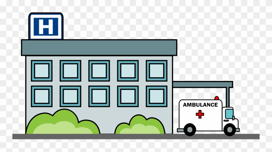 Clipart Hospital Building.
