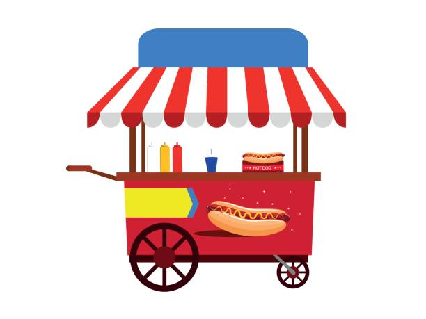 Best Hot Dog Stand Illustrations, Royalty.